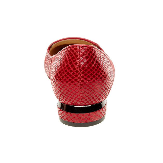 Červené kožené mokasíny bata, červená, 524-5412 - 17