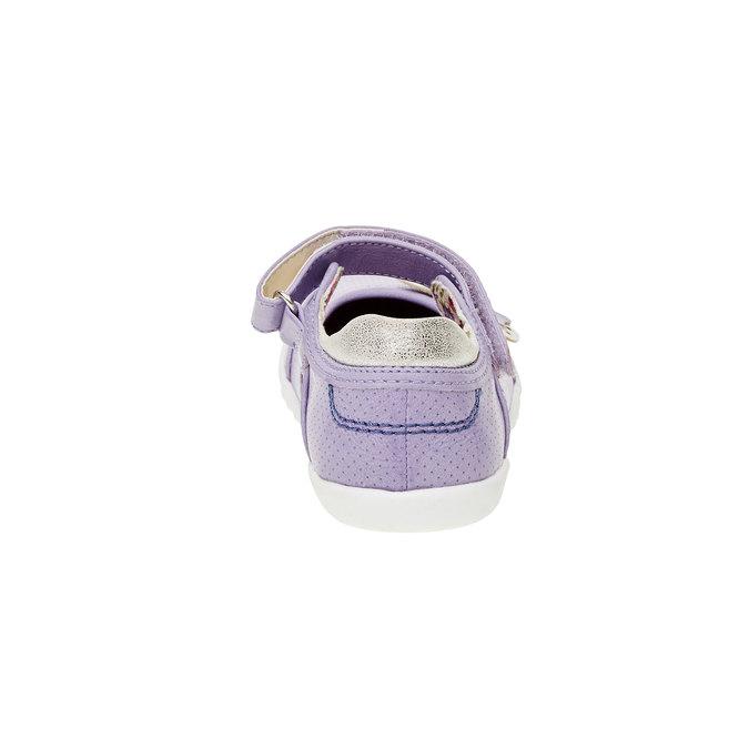 Dívčí baleríny s páskem mini-b, fialová, 221-9160 - 17