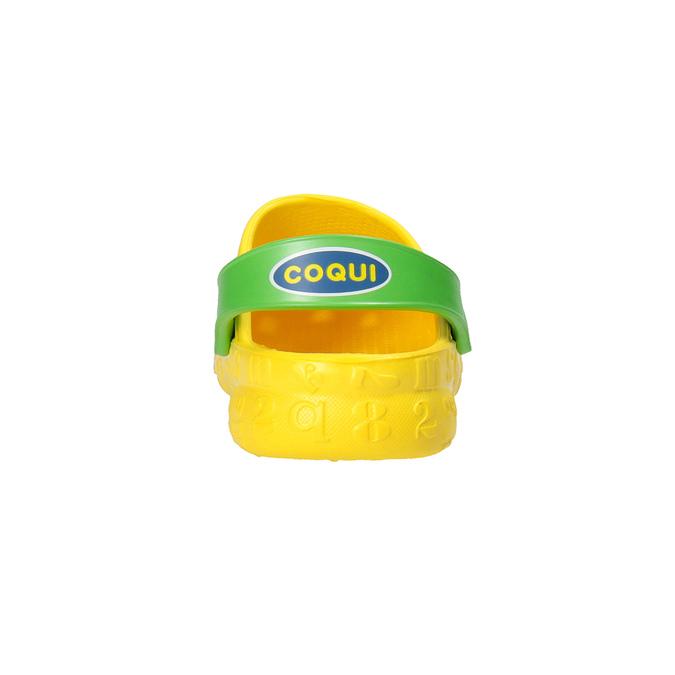 Dětské sandály Clogs s žabičkou coqui, žlutá, 301-8615 - 17