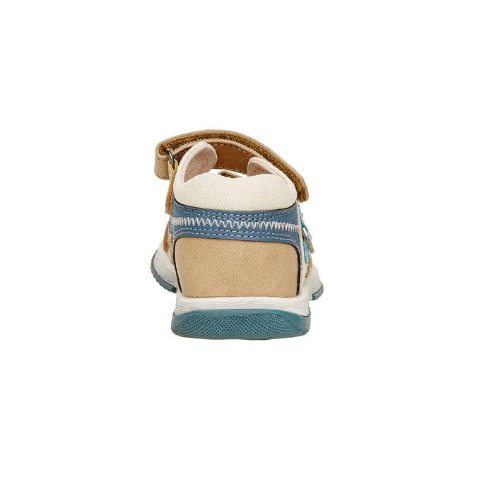 Dětské sandály mini-b, hnědá, 161-3100 - 17