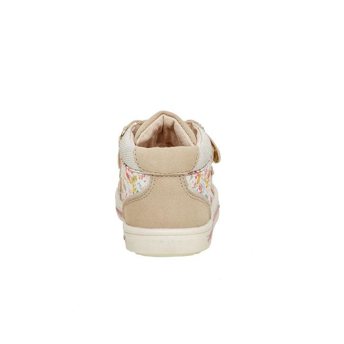 Kotníčkové boty na suché zipy mini-b, béžová, hnědá, 121-8101 - 17