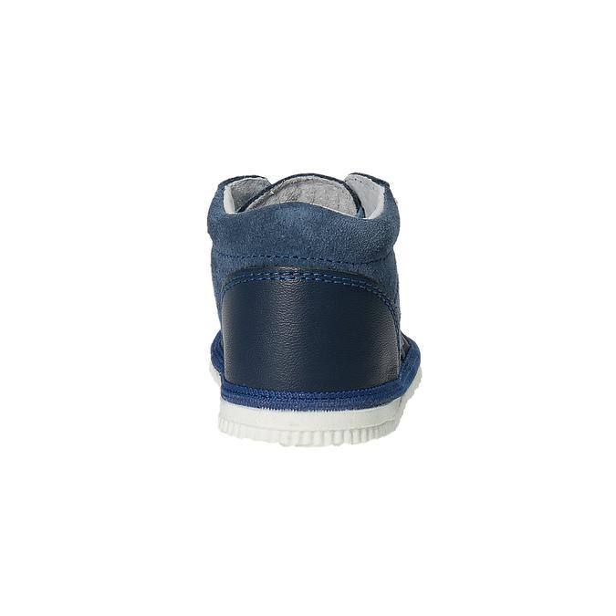 Dětská kožená domácí obuv bata, modrá, 104-9001 - 17