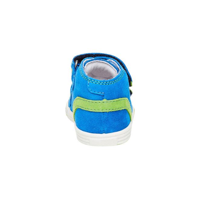 Kožené kotníčkové tenisky richter, modrá, 113-9014 - 17