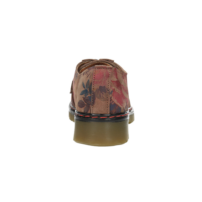 Kožené polobotky s květinovým vzorem bata, hnědá, 526-5611 - 17