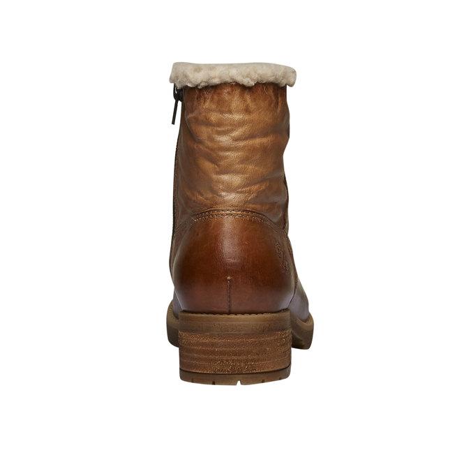 Kožená zimní obuv bata, hnědá, 594-3101 - 17