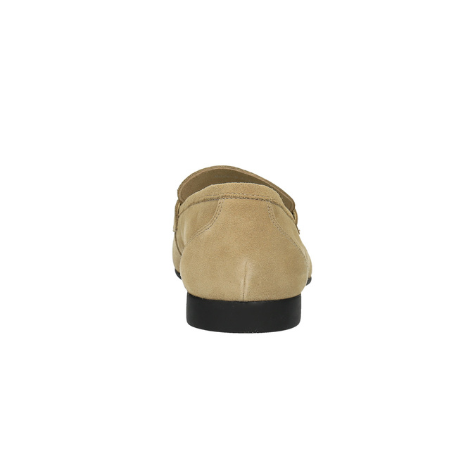 Pánské kožené mokasíny flexible, béžová, 853-8186 - 17