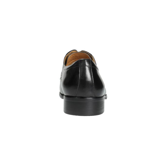 Pánské kožené polobotky se zdobením bata, černá, 824-6640 - 17