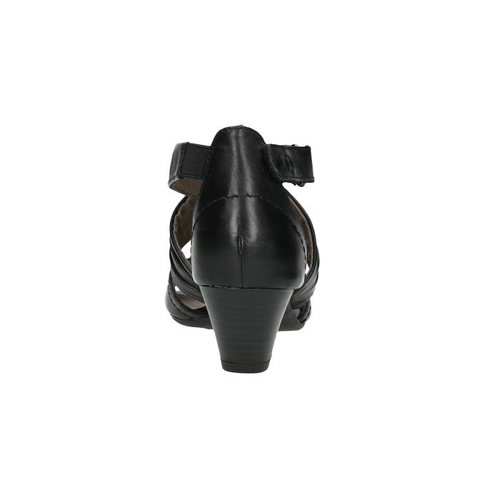 Dámské kožené sandály bata, černá, 644-6100 - 17