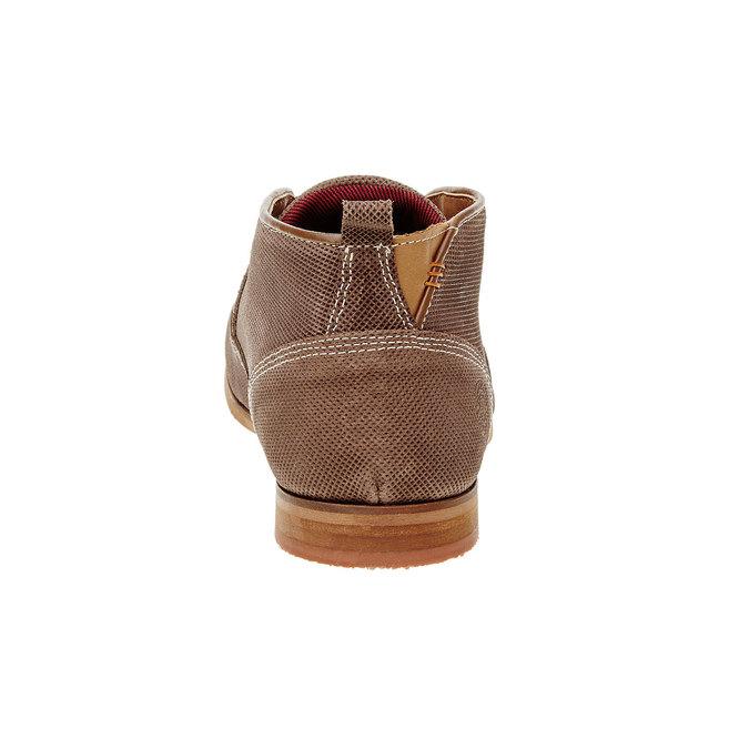 Kožené kotníčkové polobotky bata, hnědá, 826-3101 - 17