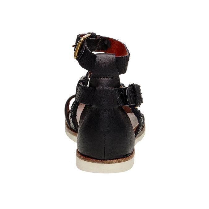 Dámské kožené sandály bata, černá, 566-6103 - 17
