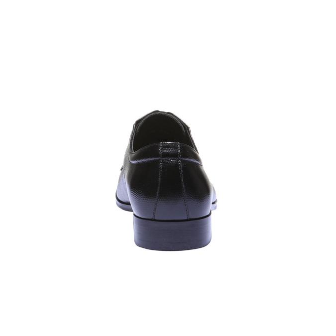 Kožené polobotky v Derby stylu bata, černá, 824-6252 - 17