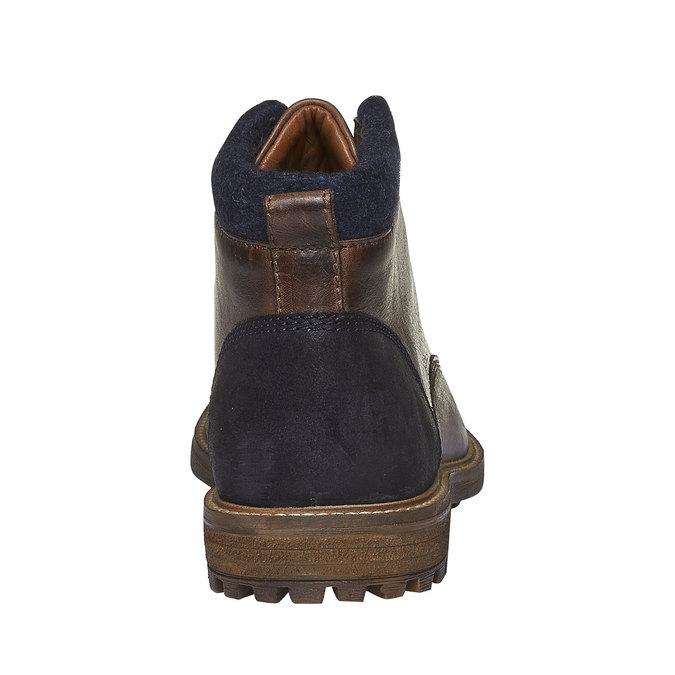 Kožené kotníkové boty bata, hnědá, 894-4133 - 17