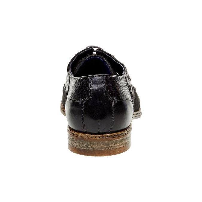 Ležérní kožené polobotky bugatti, černá, 823-9015 - 17
