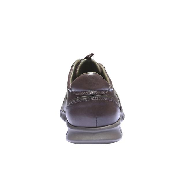 Kožené tenisky bata, hnědá, 844-4270 - 17