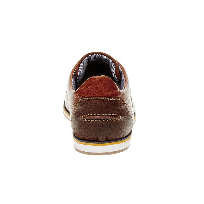 Ležérní kožené polobotky bata, hnědá, 824-4290 - 17