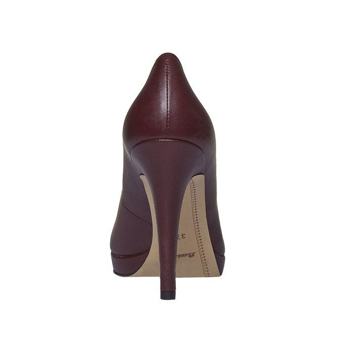 Kožené lodičky na vysokém podpatku bata, fialová, 724-5796 - 17