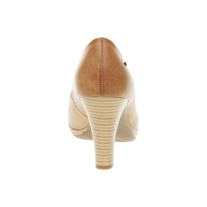 Lodičky na širokém podpatku bata, hnědá, 721-4946 - 17