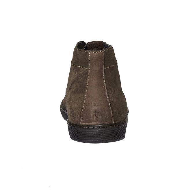 Semišové polobotky bata, hnědá, 893-7387 - 17
