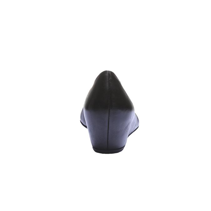 Značkové kožené lodičky hogl, černá, 624-6284 - 17