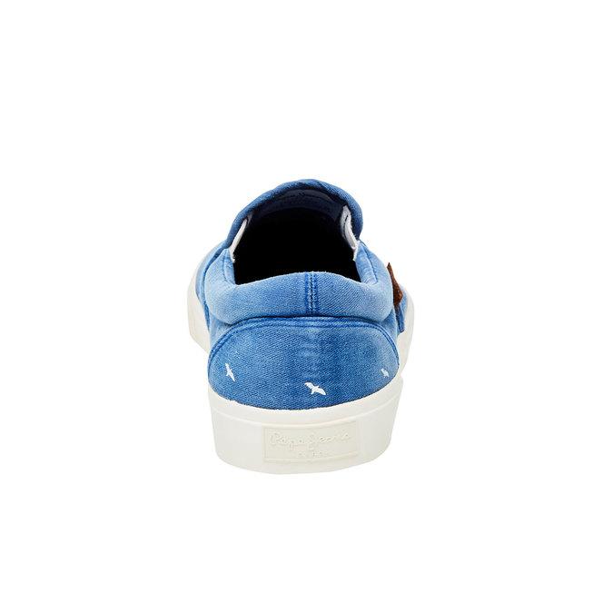 Pánské modré Slip On pepe-jeans, modrá, 839-9004 - 17
