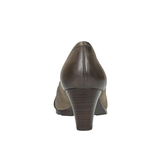 Dámské kožené lodičky bata, hnědá, 626-2600 - 17