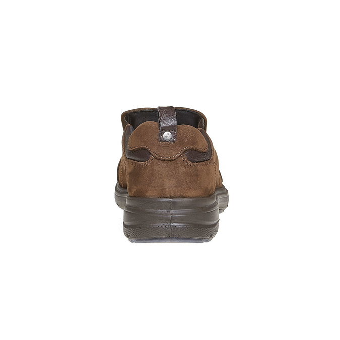 Pánské kožené nazouváky bata, hnědá, 816-4223 - 17