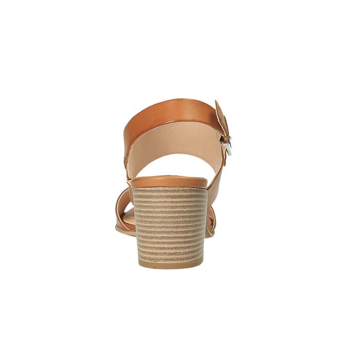 Kožené sandály na širokém podpatku bata, hnědá, 664-3205 - 17