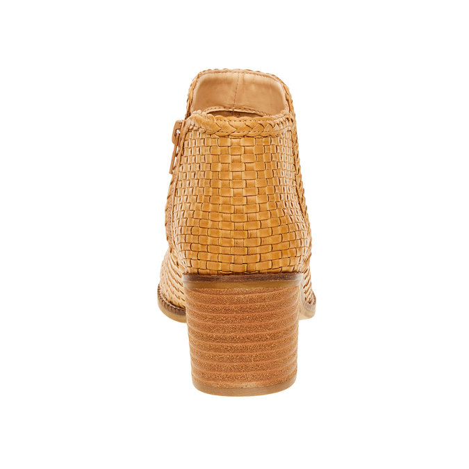 Kotníčkové kozačky s pleteným vzorem bata, hnědá, 691-8273 - 17