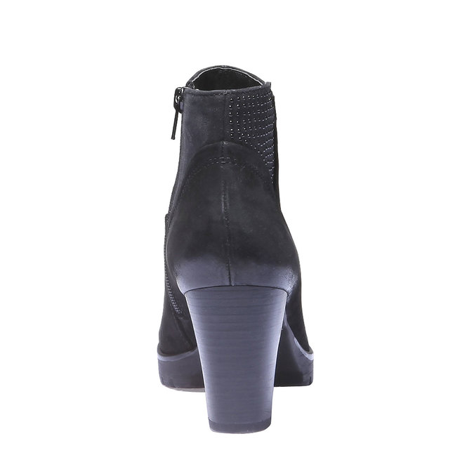 Kožená kotníčková obuv bata, černá, 796-6122 - 17