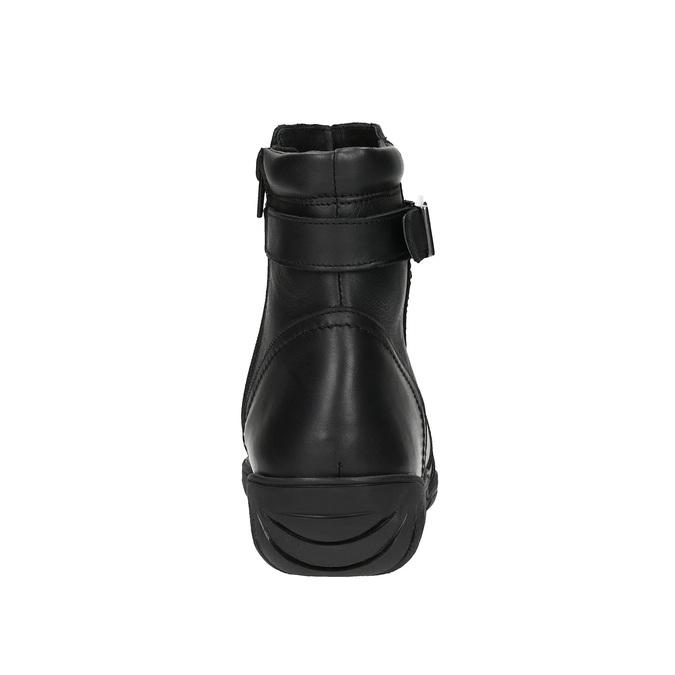 Dámská kožená zimní obuv bata, černá, 594-6347 - 17