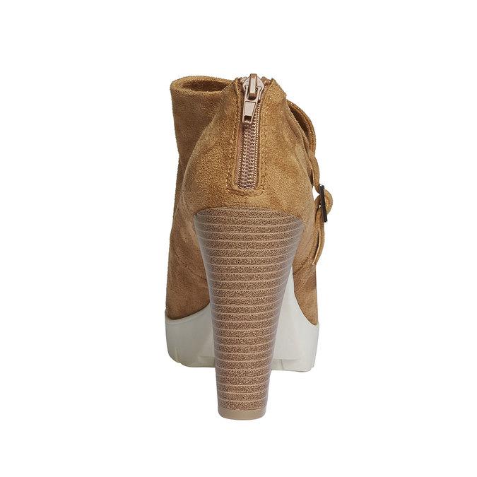 Kotníčkové kozačky s výraznou podešví bata, hnědá, 799-3630 - 17