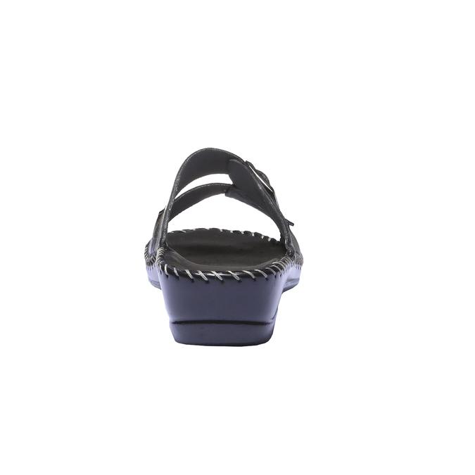Kožené nazouváky bata-comfit, černá, 574-6173 - 17