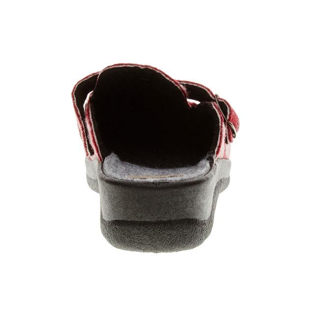 Domácí obuv bata, červená, 579-5221 - 17