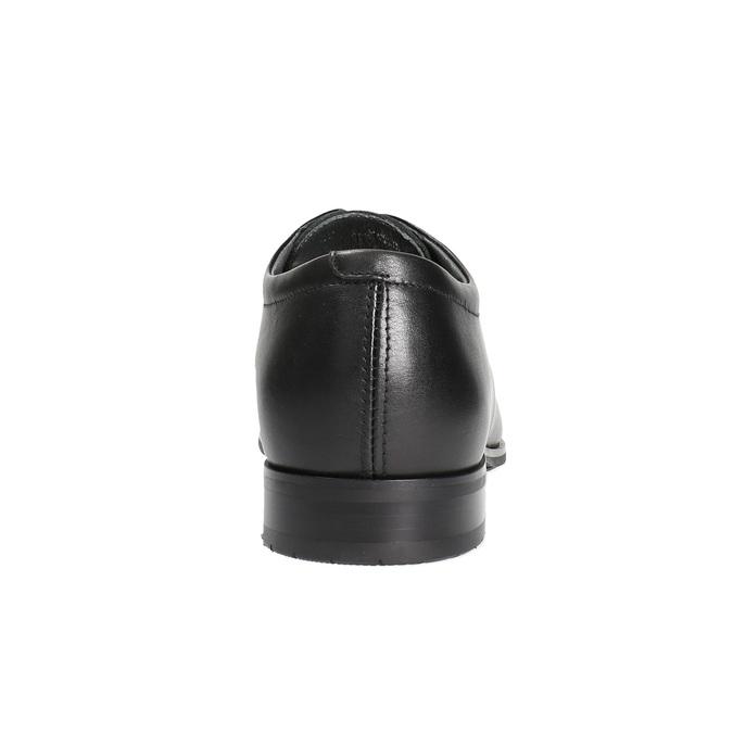 Pánské kožené polobotky bata, černá, 824-6669 - 17