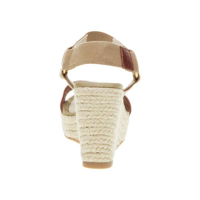 Dámské sandály na platformě gant, hnědá, 764-3014 - 17