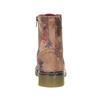 Kožná kotníčková obuv s květinovým vzorem bata, růžová, 596-5609 - 17