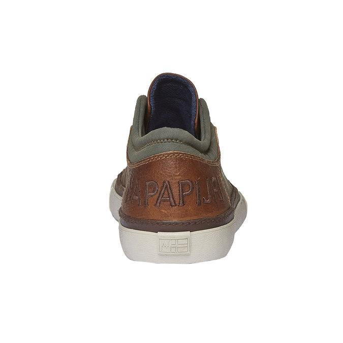 Kožené pánské tenisky napapijri, hnědá, 844-3007 - 17