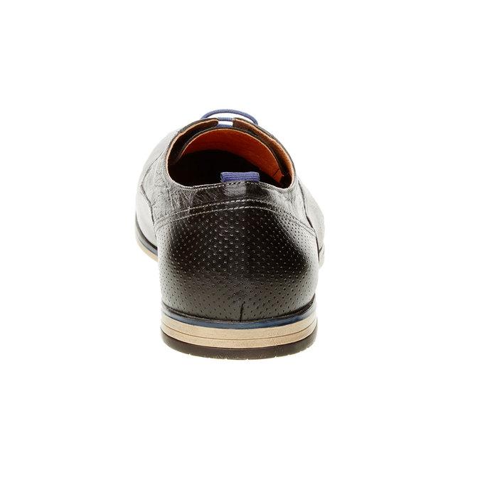 Kožené polobotky v Derby stylu bata, černá, 824-6605 - 17