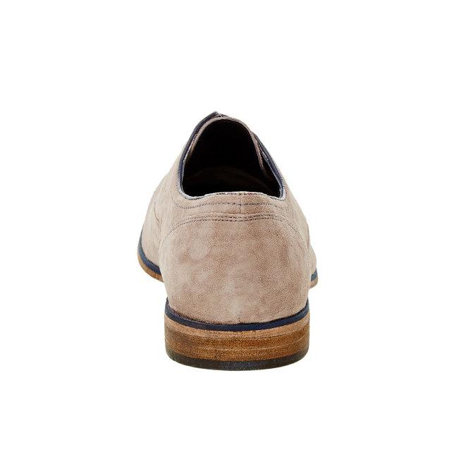 Pánské polobotky s koženou podešví bata, béžová, 823-2838 - 17