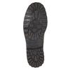 Kožené polobotky s prošitím na špici bata, hnědá, 826-4640 - 17
