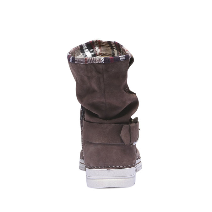 Kožená obuv s barevným lemem weinbrenner, hnědá, 596-4311 - 17