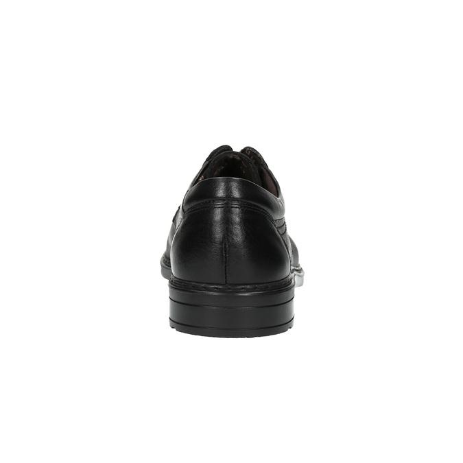 Pánské kožené polobotky fluchos, černá, 824-6622 - 17