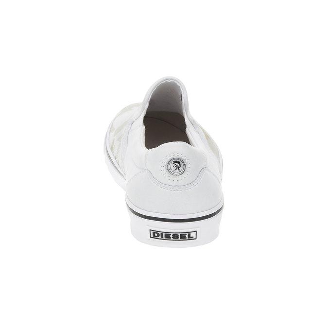 Světlé pánské Slip on boty diesel, bílá, 884-1230 - 17