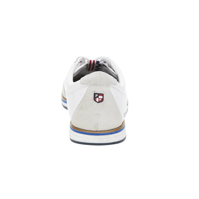 Pánské kožené tenisky na barevné podešvi u-s-polo-assn-, bílá, 844-1003 - 17