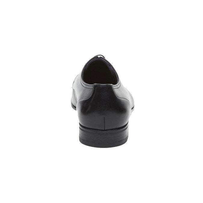 Pánské černé kožené polobotky lloyd, černá, 824-6356 - 17