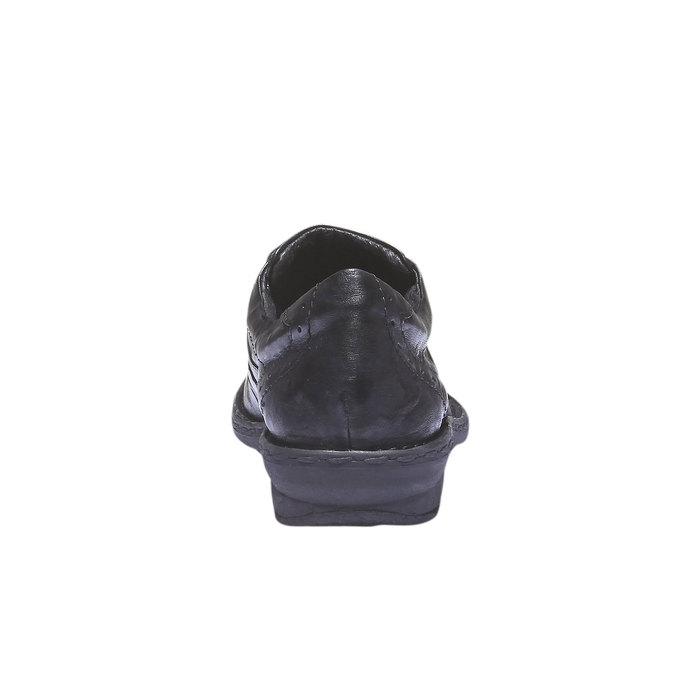 Ležérní kožené tenisky bata, černá, 624-6111 - 17