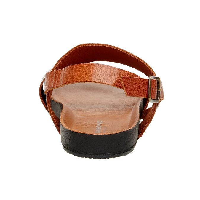 Kožené pánské sandály vagabond, hnědá, 864-3010 - 17