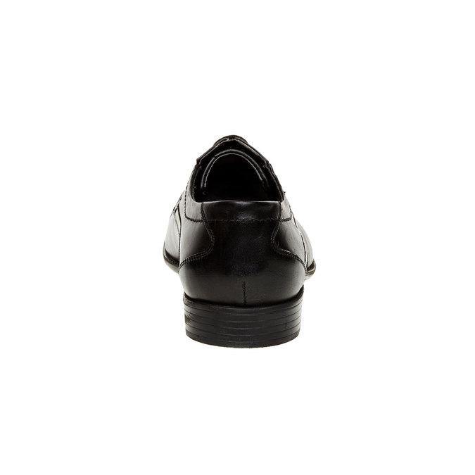 Kožené polobotky s pružným nártem bugatti, černá, 824-6329 - 17