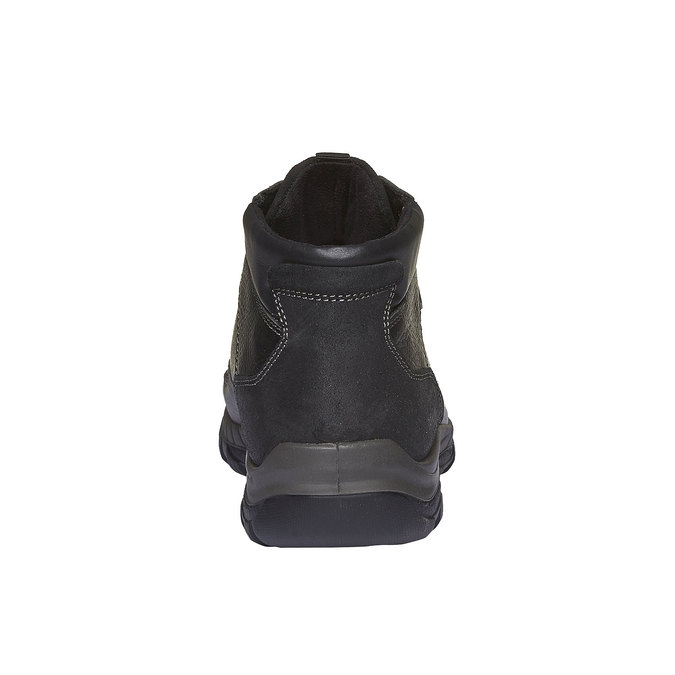 Kožené kotníkové boty se zateplením bata, černá, 894-6130 - 17