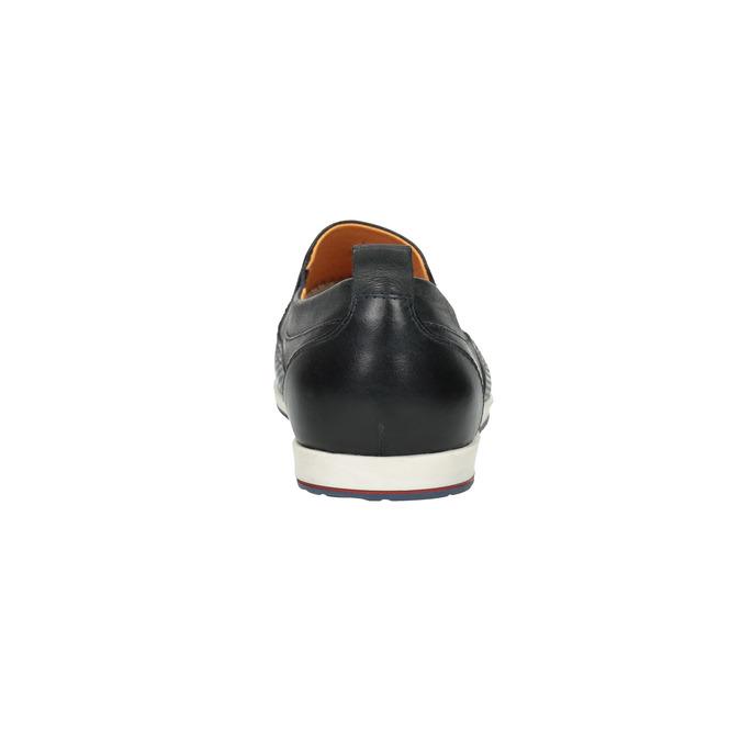 Pánské kožené Slip on boty bata, černá, 814-9148 - 17